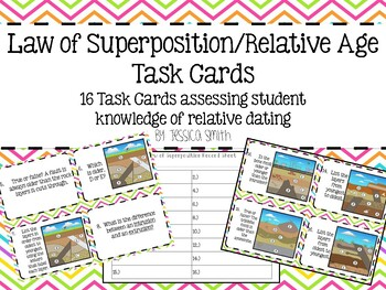 Law of Superposition/Relative Age Task Cards