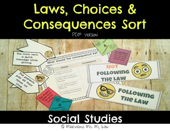 Laws and Consequences Sort [PDF Version]