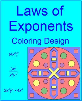 Laws of Exponents - Coloring Activity