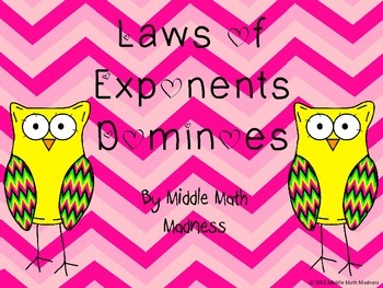 Laws of Exponents Dominoes Game