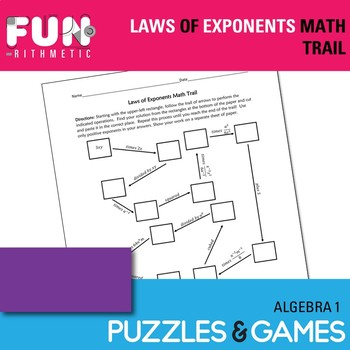 Laws of Exponents Math Trail