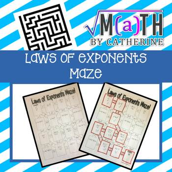 Laws of Exponents Maze
