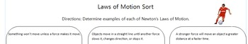 Laws of Motion Sort