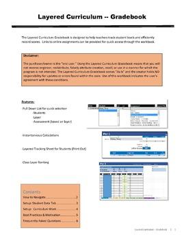 Layered Curriculum Gradebook - Free Version