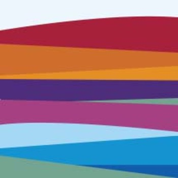 Layered abstract bars of color - Dual Pack