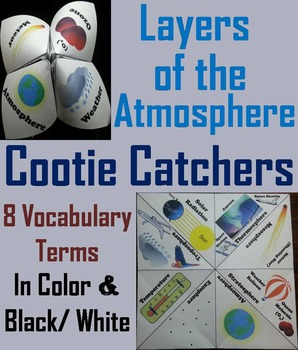 Layers of the Atmosphere Activity (No Prep SCOOT Unit Revi
