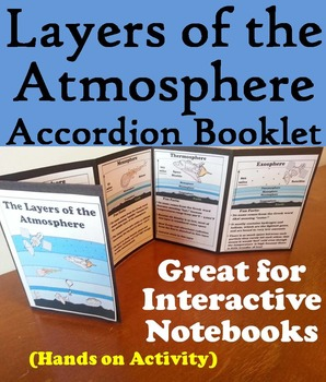 Layers of the Atmosphere Interactive Notebook Activity/ Foldable