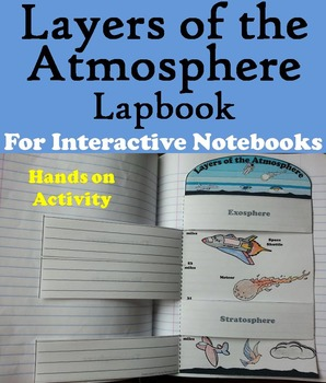 Layers of the Atmosphere Interactive Notebook Lapbook/ Fol