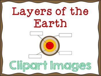 Layers of the Earth: Digital Clipart Images