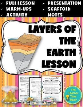 Layers of the Earth Lesson (PowerPoint, notes, and activit