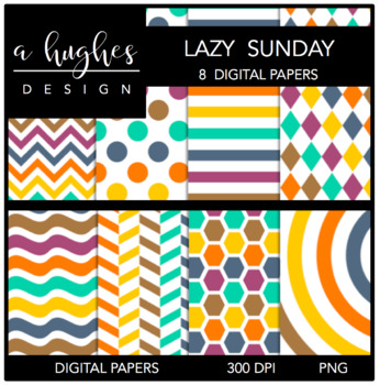 Lazy Sunday {12x12 Digital Papers for Commercial Use}