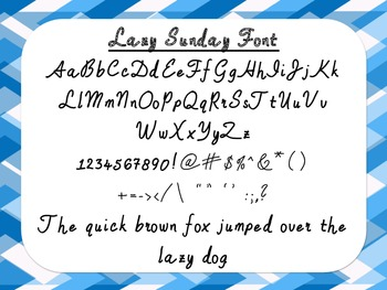 Lazy Sunday Font {True Type Font for personal and commercial use}
