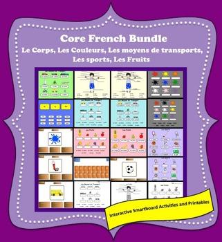 Le Corps, Les Sports, Les Fruits......Smartboard Activities