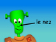 Le Corps -The Body in French Vocabulary Presentation and W