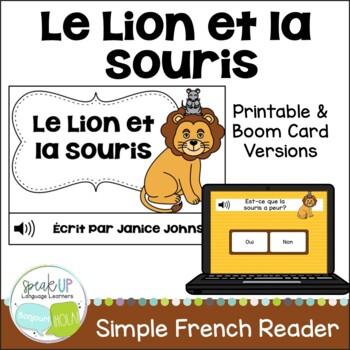 Le Lion et la Souris ~ French Lion and the Mouse Fable Rea