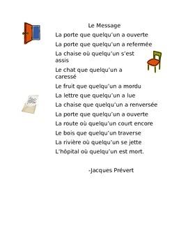 Le Message par Jacques Prévert