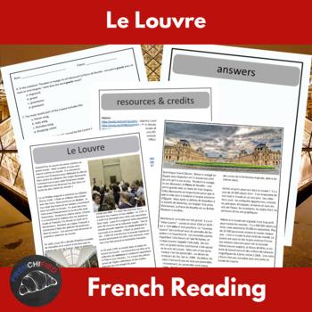 Le Musée du Louvre - reading for beginning/intermediate Fr
