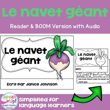 Le Navet Géant French The Enormous Turnip Reader ~ Simple