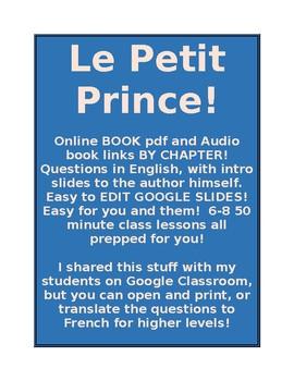 Le Petit Prince - The Little Prince NO BOOK NEEDED EDITABL