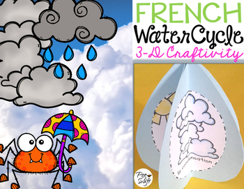 Le cycle de l'eau - FRENCH Water Cycle Craft