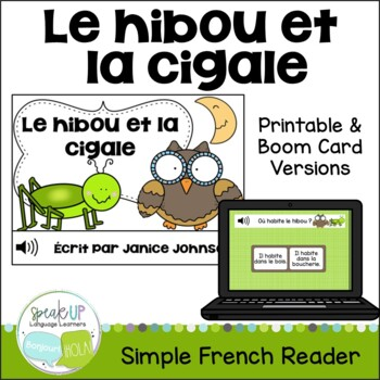 Le hibou et la cigale ~ French Owl & Grasshopper Fable Rea