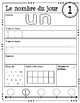 Le nombre du jour 1-5 (French Number of the Day Pages 1-5)