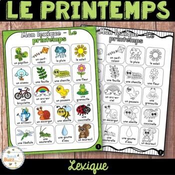 Printemps - lexique - French Spring