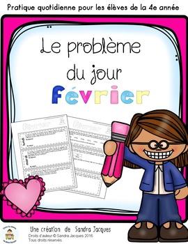 Le problème du jour – 4e année/ Problem of the Day Gr.4 in French