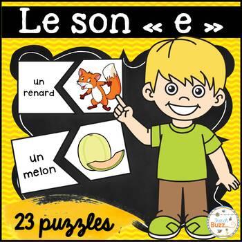 """Le son """"e"""" - 20 puzzles"""