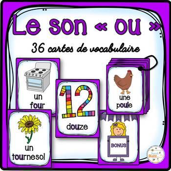 """Le son """"ou"""" - 36 cartes de vocabulaire - French Sounds"""
