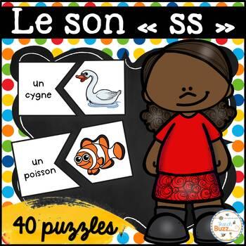 """Le son """"ss-ç-s-c-x-t"""" - 40 puzzles"""