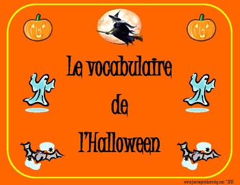 Le vocabulaire de l'Halloween-French Halloween Word Search