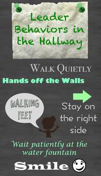 Leader Behaviors in the Hallway