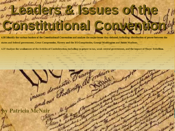 Leaders & Issues of Constitutional Convention w/Test (CCSS