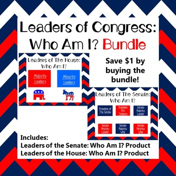 Leaders of Congress: Who Am I? Bundle