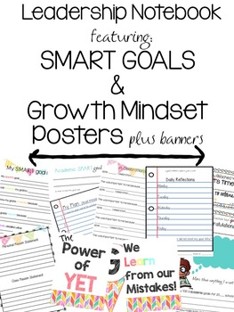 Leadership/Data Notebook with SMART goals! and Mindset Pos