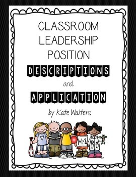 Leadership Position Descriptions and Application