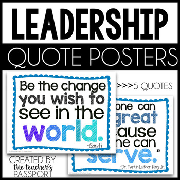 Leadership Quotes Posters