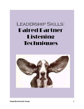 Leadership Skills: Learning Listening Skills through Paire