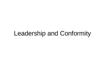 Leadership and Conformity: Lord of the Flies