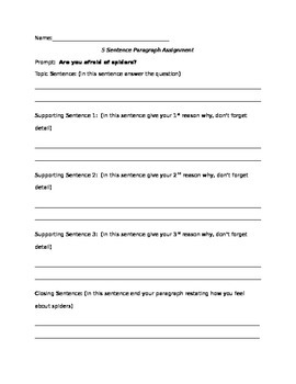 Leading students from 1 to 3 paragraph writing