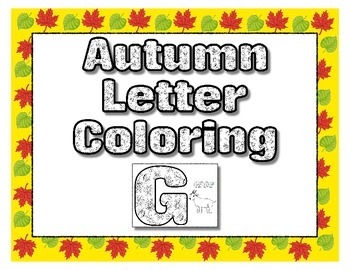 Leaf Alphabet Coloring Sheets - Fall Autumn Halloween Than