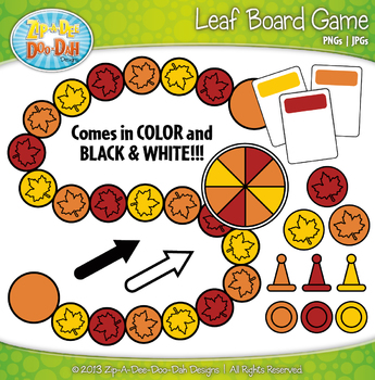 Leaf Build A Board Game Clip Art Set — Over 20 Colorful Graphics