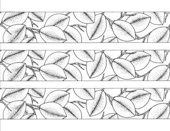 Leaf Bulletin Board Border Printable Black and White PDF