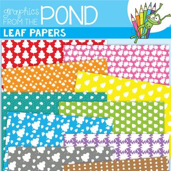 Leaf Digi Paper Pages - Clipart for Teachers
