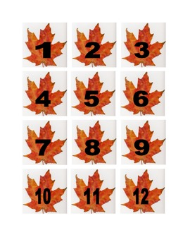 Leaf Numbers for Calendar or Math Activity