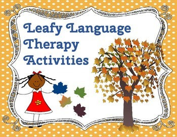 Leafy Language Therapy Activities