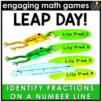 Leap Day Identify Fractions on Number Lines