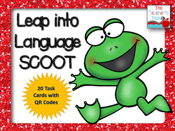 Leap into Language SCOOT 20 Task Cards to Review ELA Skills
