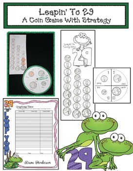 Leapin' To 29: A Money Math Game With Strategy! Great For